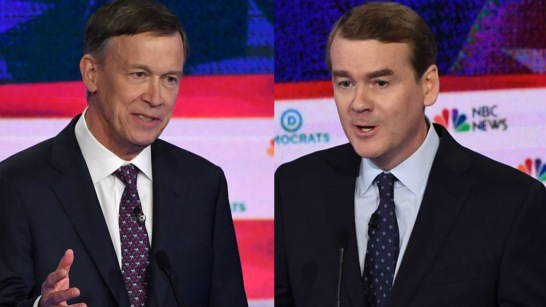 Democratic presidential hopeful US Senator for Colorado Michael Bennet speaks during the second Democratic primary debate of the 2020 presidential campaign season hosted by NBC News at the Adrienne Arsht Center for the Performing Arts in Miami, Florida, June 27, 2019. (Photo by SAUL LOEB / AFP) (Photo credit should read SAUL LOEB/AFP/Getty Images)
