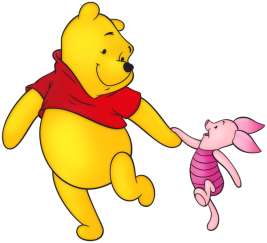 Winnie_the_Pooh_and_Piglet_Free_PNG_Clip_Art_Image